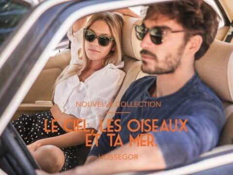 Un couple avec des lunettes de soleil Moken dans une voiture